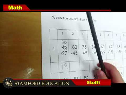 Stamford Education Steffi Eng 2 Digits Indirect Subtraction