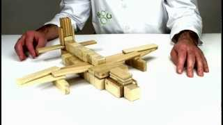 Wooden Building Blocks From Tegu - How To Build An Airplane