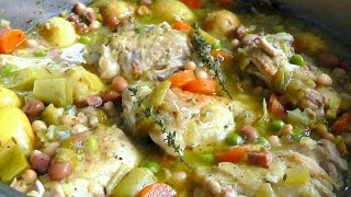 One Pot Chicken Stew Pancetta Beans Simple & Delicious Recipe How To Cook