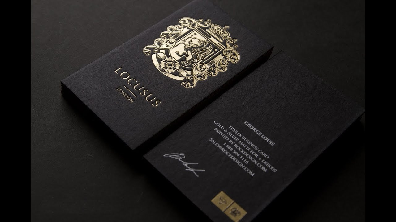 Gold Foil Business Cards - YouTube