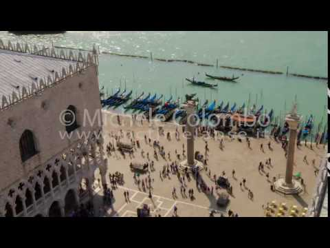 0057 - time lapse - People in San Marco square fro the bell tower - 4K