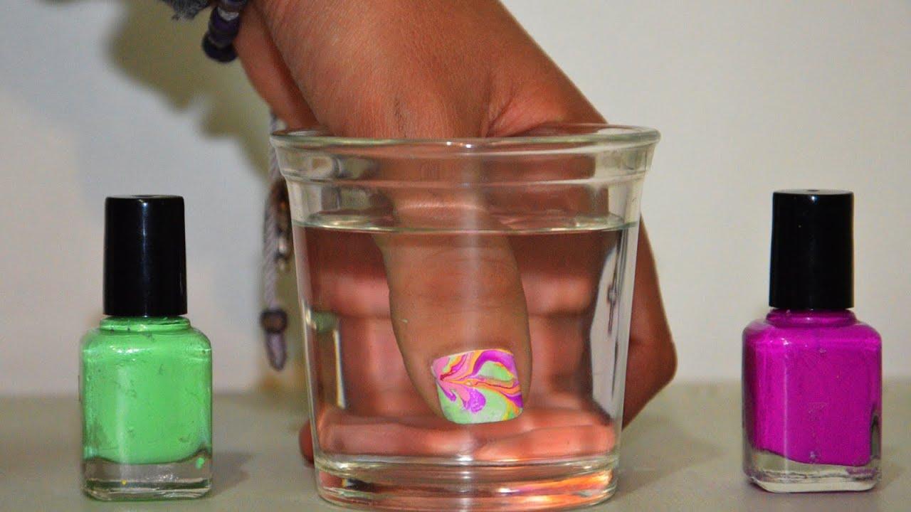 Pintar uñas con agua (Tip para esmaltes espesos) | Tutoriales de ...