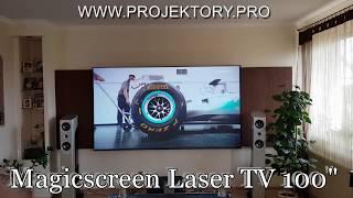 "Laserowy Telewizor Magicscreen Laser TV 100"" / Epson LS 100"