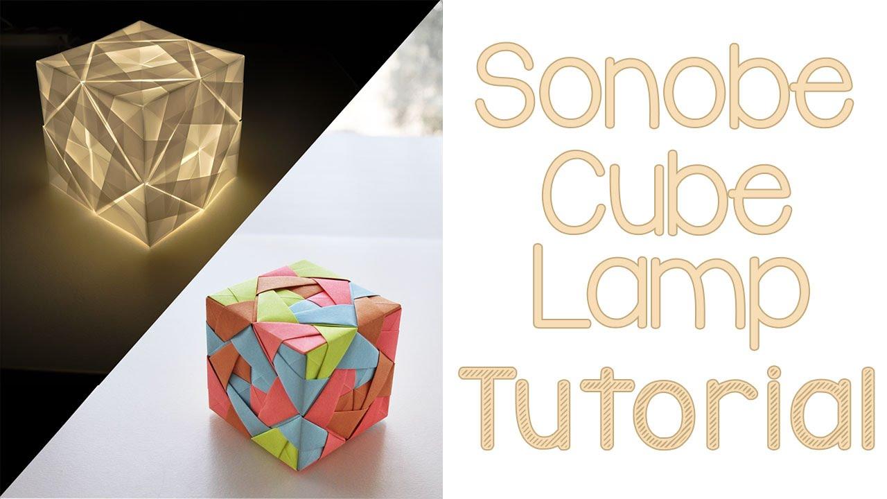 Origami Sonobe Cube Lamp Tutorial