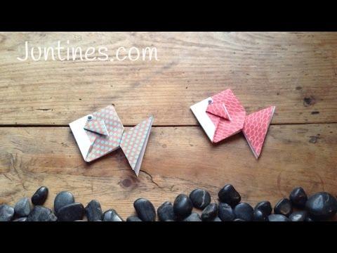 Manualidades de papel: Pez de origami