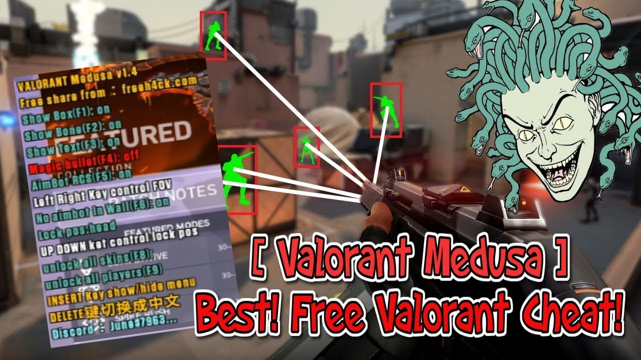 ( PATCHED ) NEW! VALORANT CHEAT! - MEDUSA CHEAT - ESP / AIMBOT / MAGIC BULLET / LIMITED TIME! ONLY
