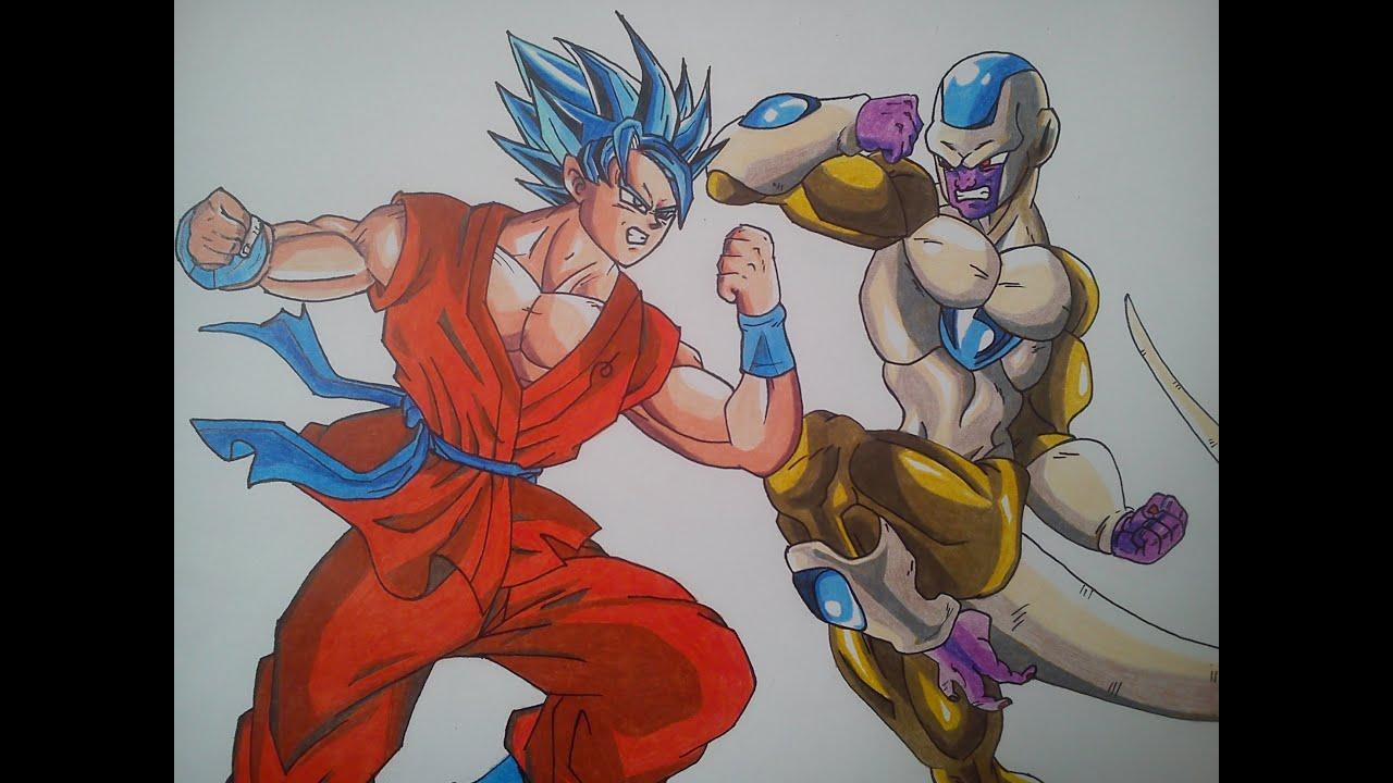 Golden Freezer Para Colorear: Como Dibujar A Goku Vs Golden Freezer / HOW TO DRAW GOKU
