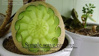 How to make a Simple wave melon carving