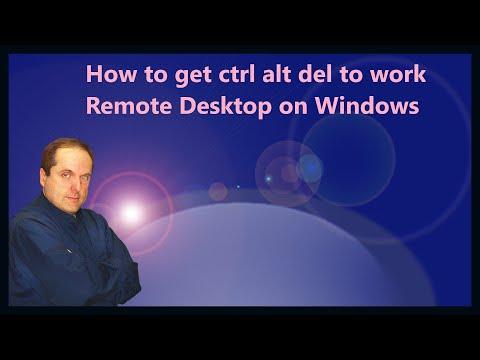How to get ctrl alt del to work in Remote Desktop on Windows 10