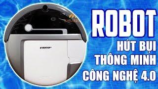 Robot Giúp Việc Thông minh -  Evertop IIC CS - Máy Hút Bụi Lau Nhà