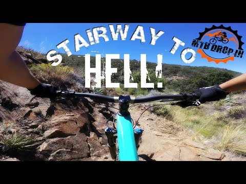 Mountain Biking Stairway To Hell | Ridding 2017 Intense Recluse | Buddy Riding 2018 Giant Trance 3