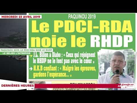 Le Titrologue du 24 avril 2019: Le PDCI RDA noie le RHDP