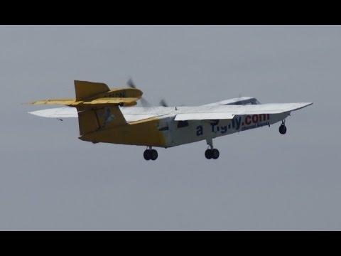Britten-Norman BN-2A Mk3-2 Trislander Aurigny Air Services G-RLON -  Décollage de DNR le 24/05/15