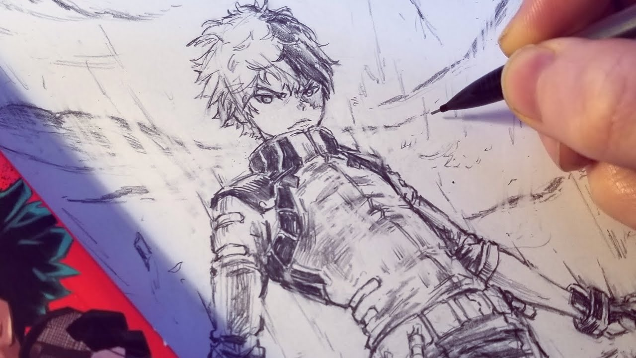 Drawing Todoroki Shouto New Hero Design Redesign Anime Manga