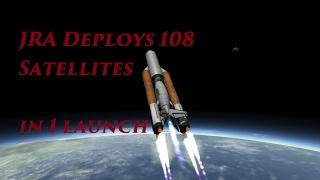 KSP: Deploying 108 Satellites in 1 Launch