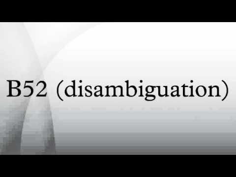 B52 (disambiguation)