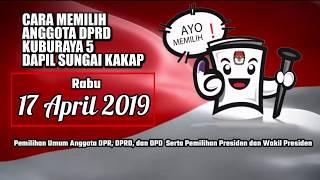 Download Video cara mencoblos anggota caleg dprd pemilu 2019 indonesia MP3 3GP MP4