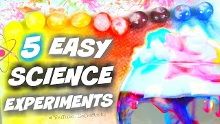 5 AMAZING SCIENCE EXPERIMENTS TO DO AT HOME | SoCraftastic