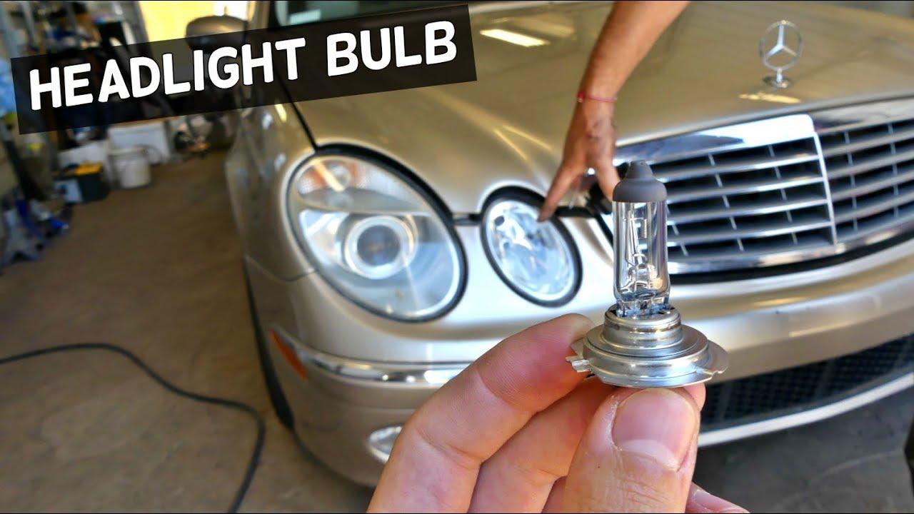 MERCEDES W211 HEADLIGHT BULB REPLACEMENT HIGH BEAM