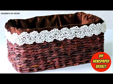 How To Make Newspaper Basket || Newspaper Craft Ideas || Best Out Of Waste ||