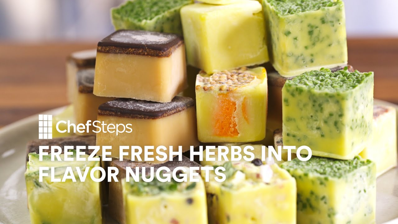 Chefs buying fresh herbs - Chefsteps Tips Tricks Freeze Fresh Herbs Into Flavor Nuggets Youtube