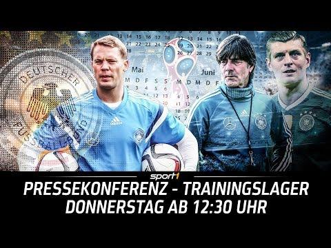 LIVE 🔴 | DFB-Pressekonferenz aus dem Trainingslager | 24.05. | WM 2018 | SPORT1