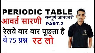 Periodic table tricks in hindi for RRB NTPC 2019    Periodic table of elements   groups and periods