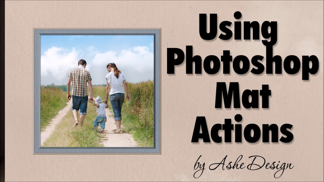 Learn to use our photoshop double mat action youtube learn to use our photoshop double mat action jeuxipadfo Gallery
