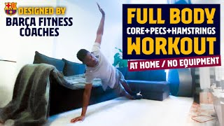 Get ready for this 30 min full body workout routine. today's session focuses in core stability mixing it with upper (chest & triceps) and lower exe...