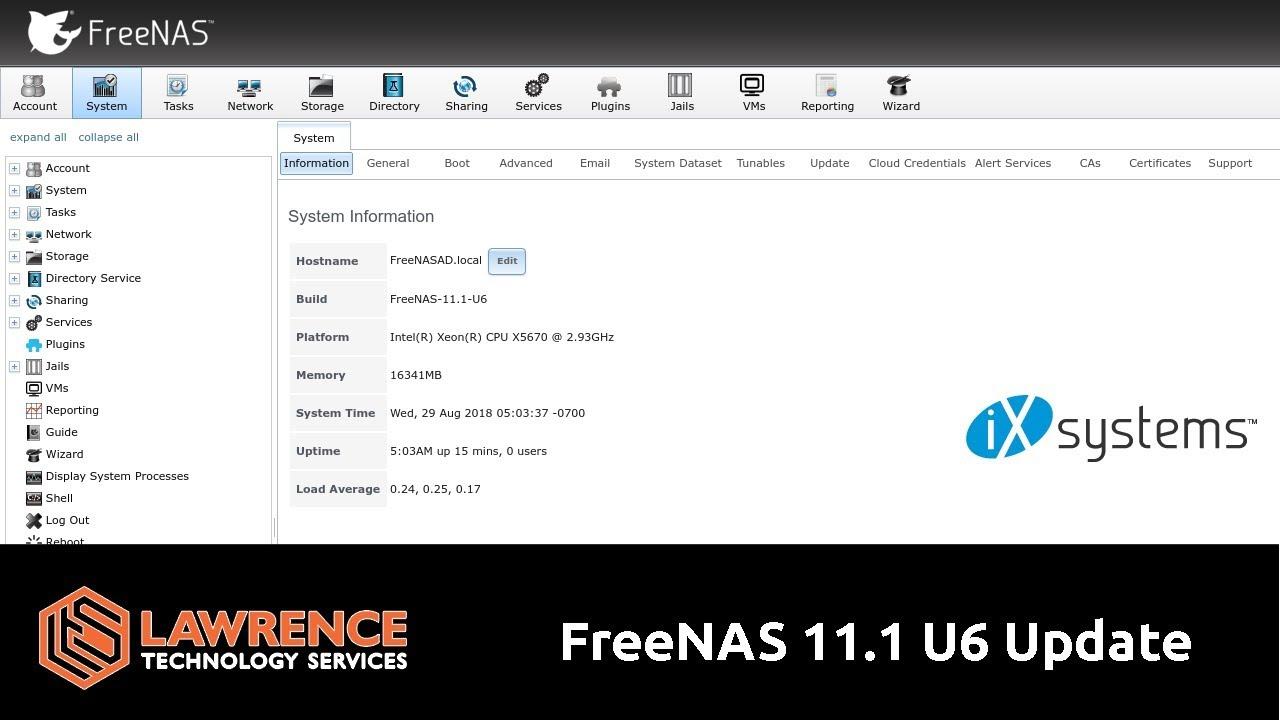 FreeNAS 11 1 U6 Update & Changelog