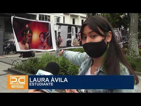 Estudiantes realizaron exposición fotográfica en el parque Murillo Toro