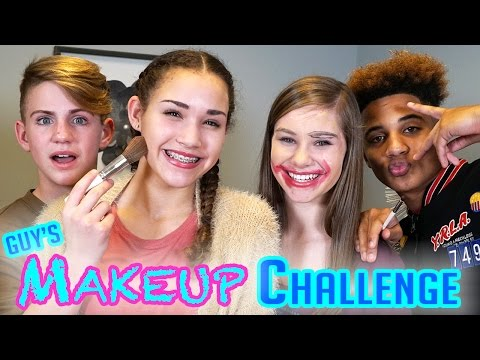 Thumbnail: GUYS Makeup Challenge! MattyBRaps vs Justin ft Gracie & CeCe