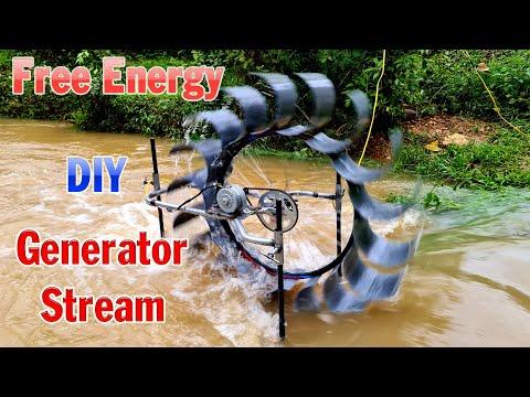 DIY Generator Stream Using PVC Pipe - Free Energy from Strea