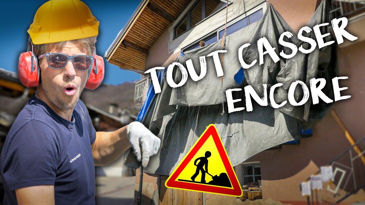 JE VOUS CASSE QUELQUE CHOSE - Passion Rénovation Ep63 - destruction maison travaux DIY Balcon