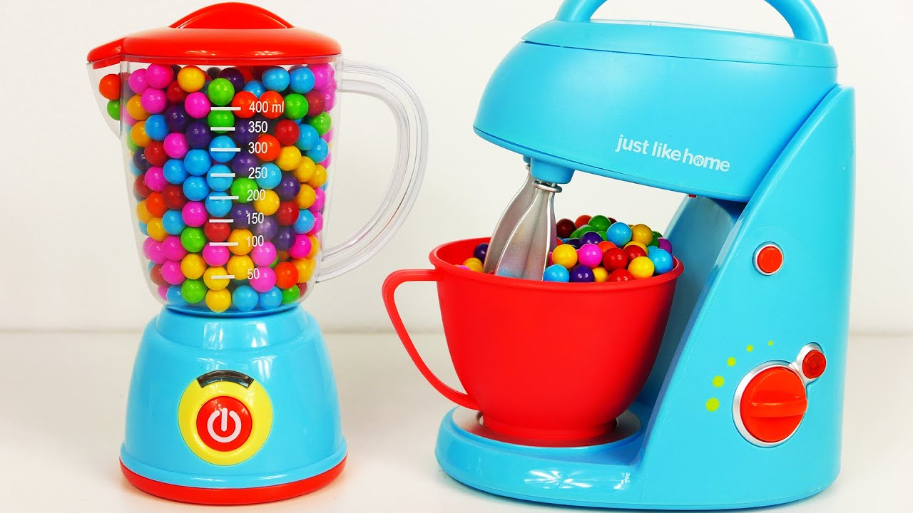 Just Like Home Toy Stand Mixer : Mixer blender home kitchen toy appliance playset for kids