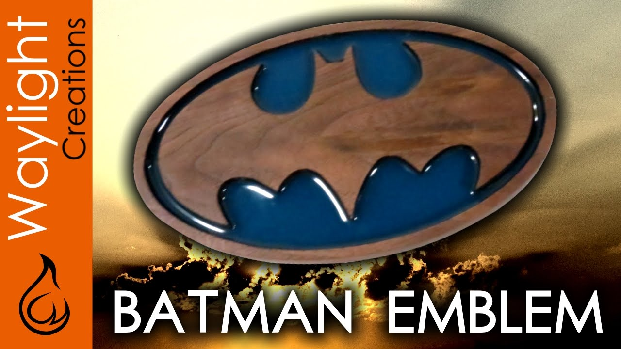 Make A Wood Batman Symbol Superhero Emblem 2 Youtube