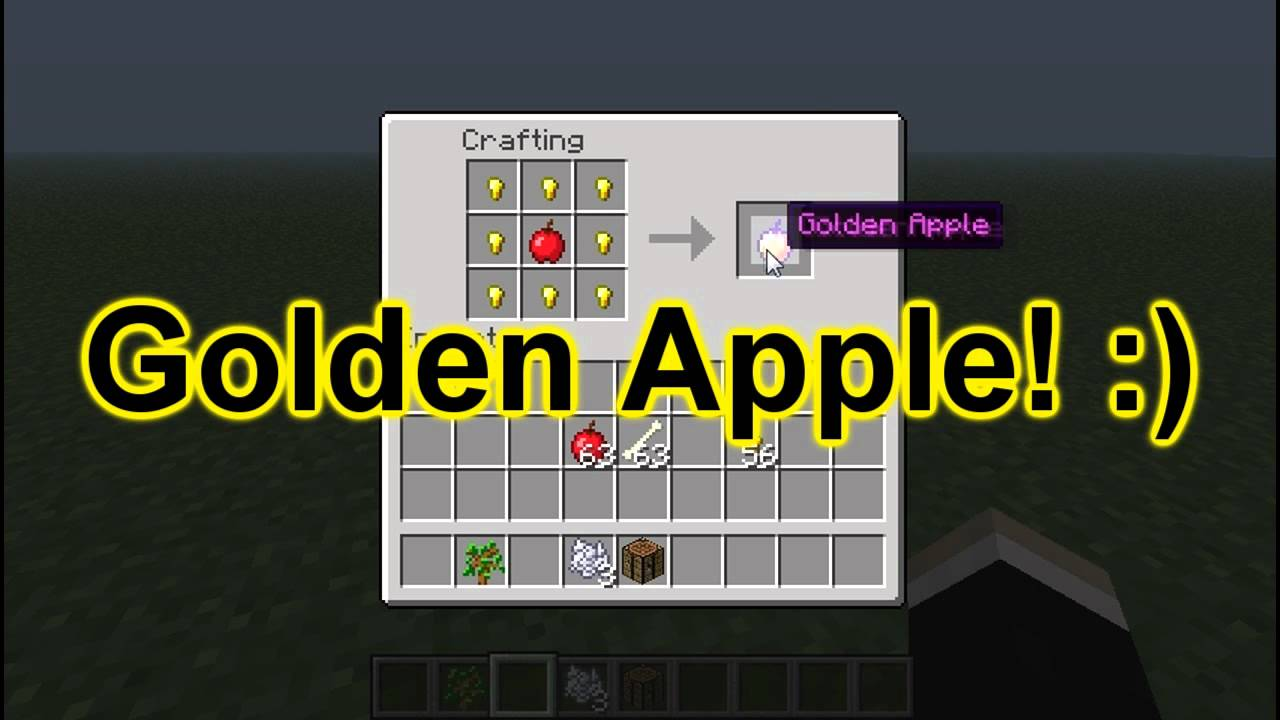How To Craft A Golden Apple In Minecraft
