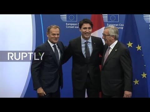 LIVE: EU council to approve CETA deal - Arrivals