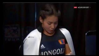 Красивая монгольская казашка Чемпионат 2015 Тяжелая атлетика