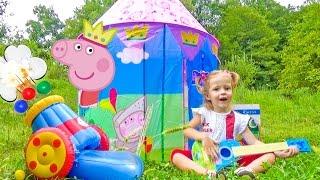 Свинка Пеппа и Замок Принцессы с пушкой. Новые серии и игрушки свинка Пеппа Peppa Pig 2016