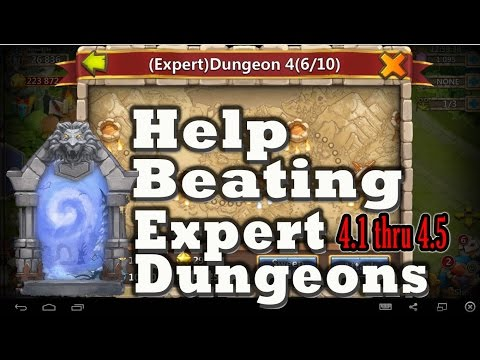 Castle Clash-How To Beat Expert Dungeons 4 1-5
