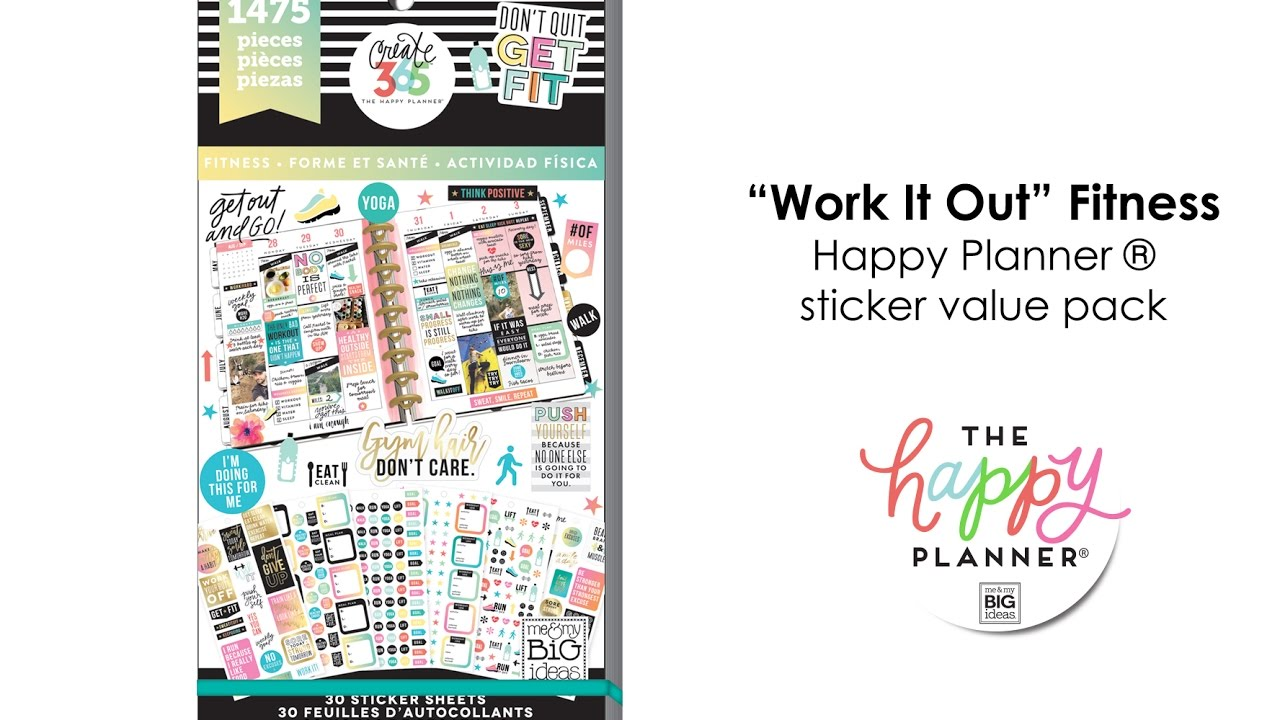 Value Pack Stickers Fitness Happy Planner Preview Youtube