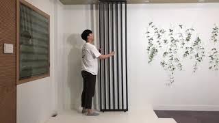 [우드레이] 가벽인테리어 스트라이프파티션 설치방법&am…