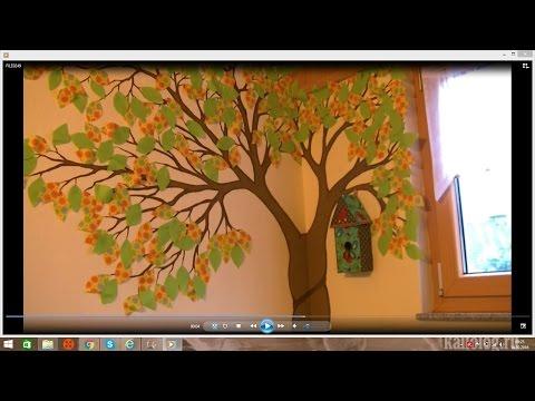 2stick.ru - Наклейка дерево на стену. Инструкция