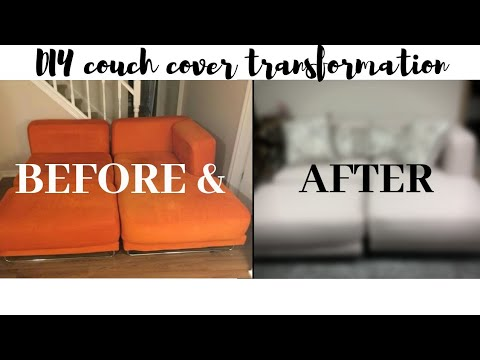 How I Recovered my Thrifted Couch ~DIY Home Decor Apartment Series ~