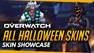 Overwatch | HALLOWEEN All Skins, Emotes, Highlight Intros, Victory Pose