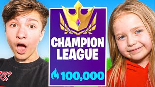 6 Year Old CARRIES FaZe H1ghSky1 In FORTNITE Tournament!! (INSANE)