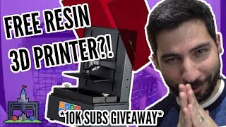 FREE Resin 3D Printer 10K Subs Giveaway + BIG Channel News!
