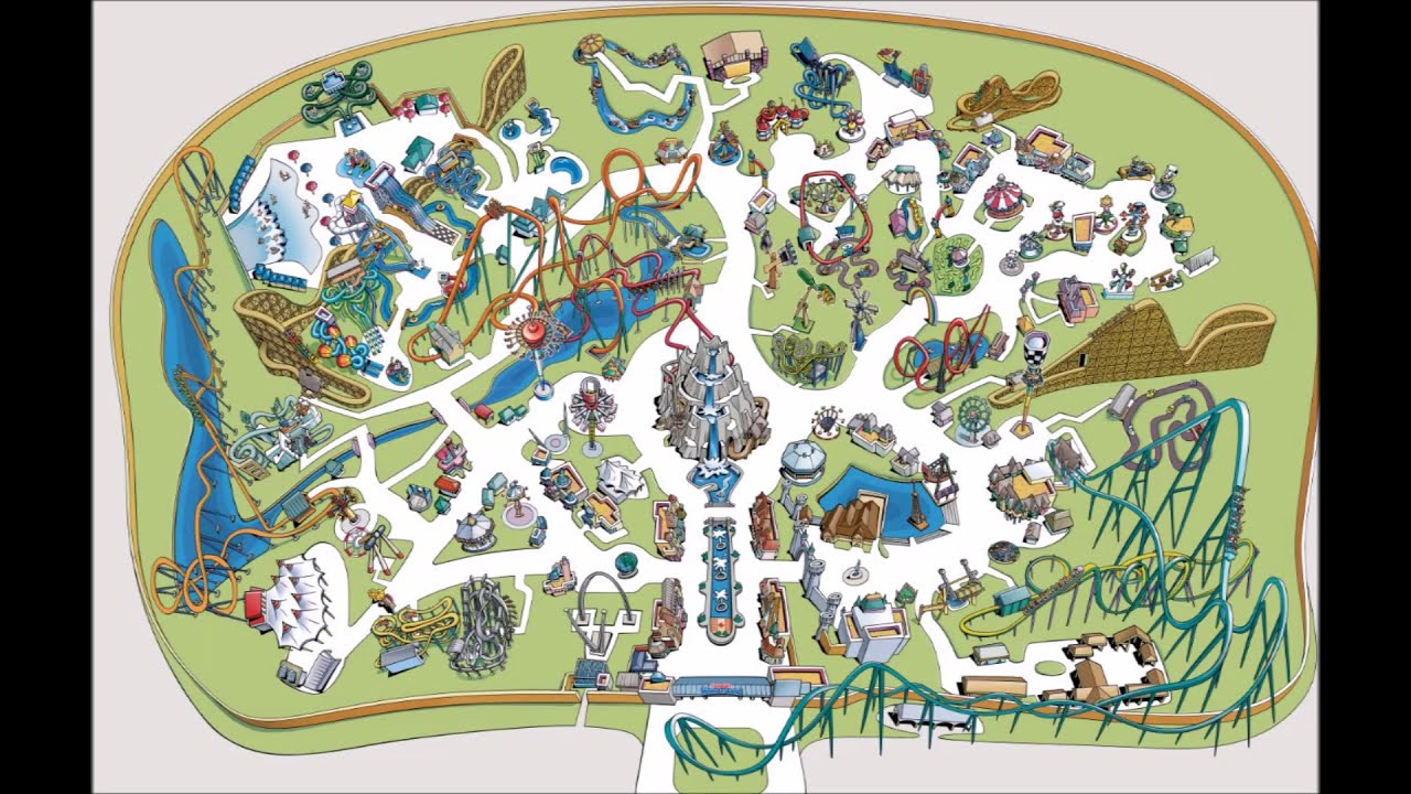 Canada S Wonderland Maps Over The Years 2 History