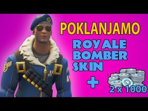POKLANJAMO: EKSKLUZIVNI ROYALE BOMBER SKIN + 2x 1000 VBUCKS-a!!! || FFA.hr Gaming Portal